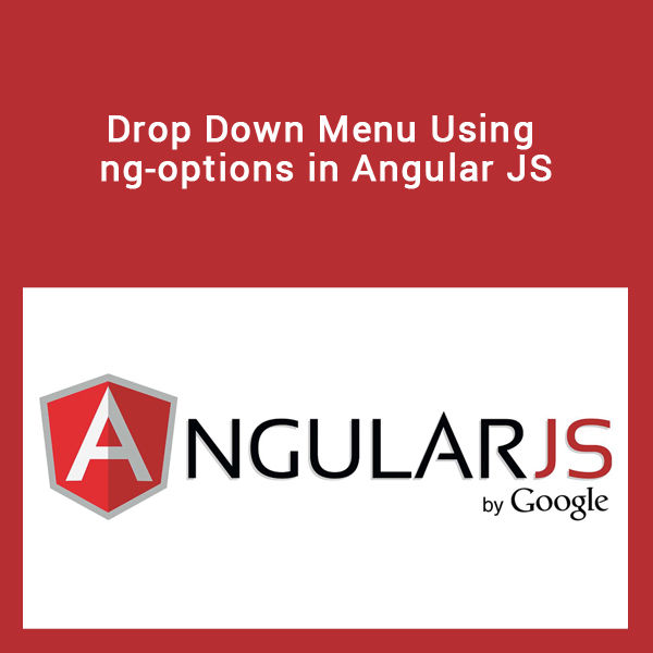 Drop Down Menu Using ng-options in Angular JS