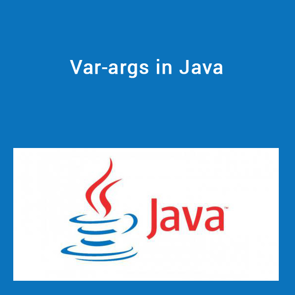 Var-args in Java